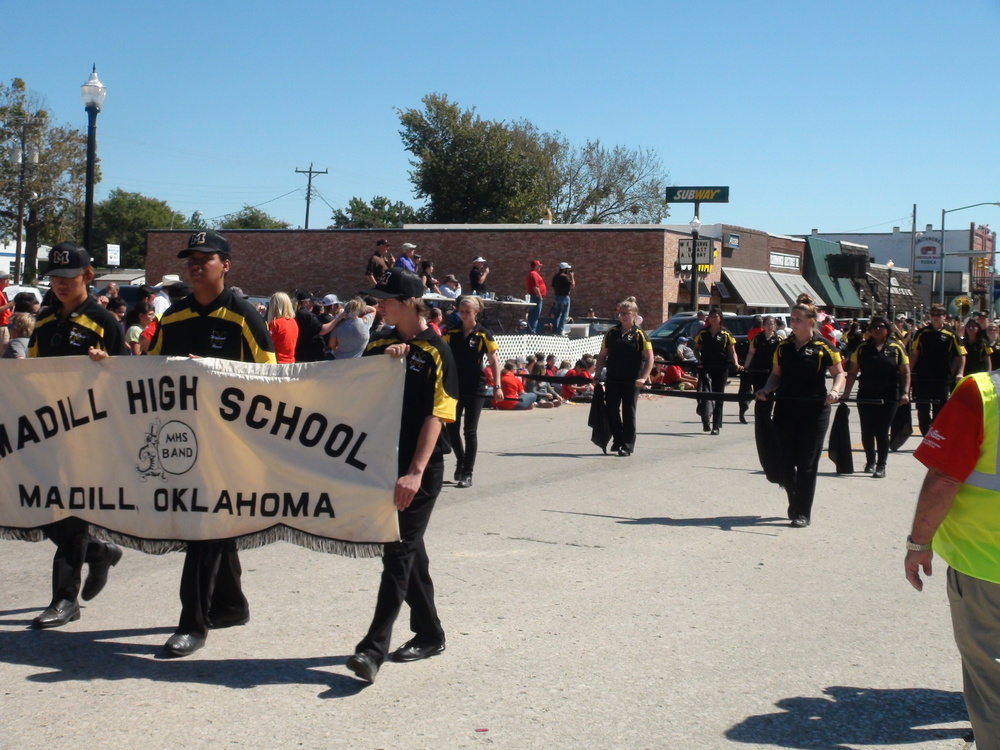 Madill Band Marches to First Place in Chickasaw Festival Parade Saturday in Tishomingo; Claims Second in Field Competition; Watch Chickasaw Festival Parade On Demand