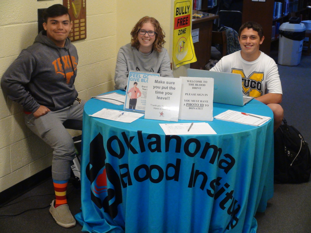 Student Council Blood Drive Exceeds Goal for Units Thursday