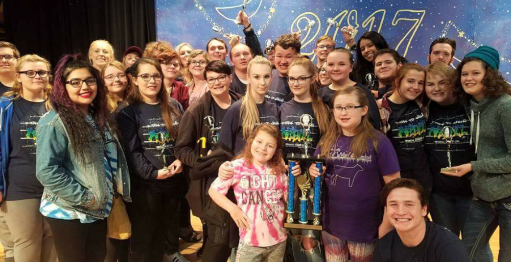 Madill Speech Team Starts with Golden Trophy from Marlow Saturday
