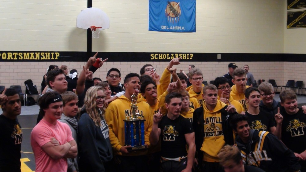 Madill Wrestling Team Claims Gold in 'Thrill in Madill' Dual Tourney Dec. 8