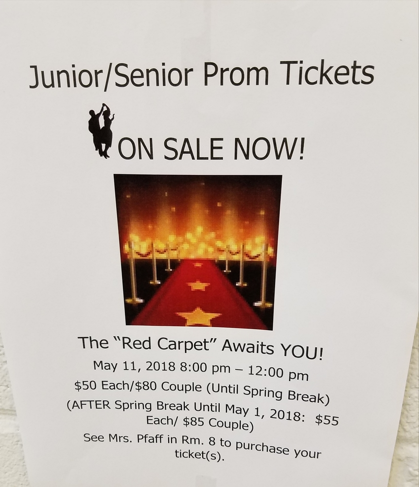 Prom Tickets Being Sold Now for May Event