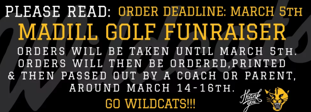 Madill Golf Teams Announce Apparel Fundraiser